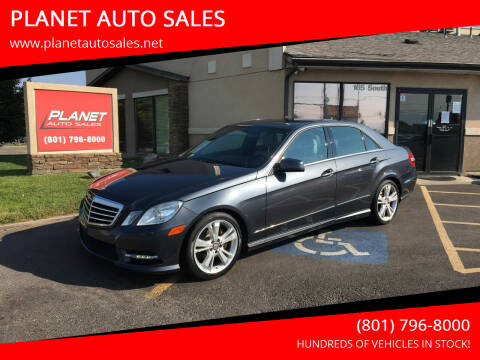 2013 Mercedes-Benz E-Class for sale at PLANET AUTO SALES in Lindon UT