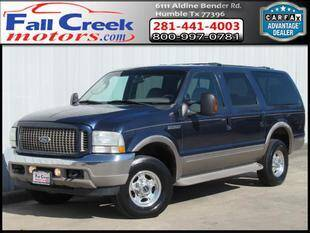 2004 Ford Excursion for sale at Fall Creek Motor Cars in Humble TX