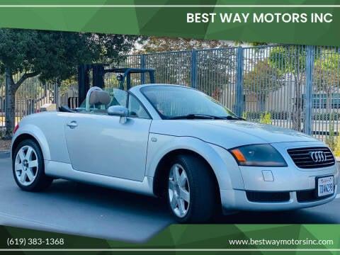 2001 Audi TT for sale at BEST WAY MOTORS INC in San Diego CA