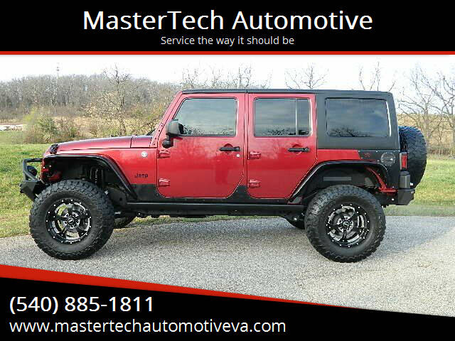 2013 Jeep Wrangler Unlimited for sale at MasterTech Automotive in Staunton VA