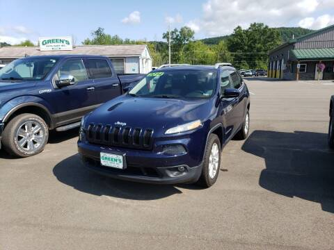 2014 Jeep Cherokee for sale at Greens Auto Mart Inc. in Wysox PA