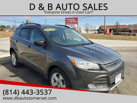 2015 Ford Escape for sale at D & B AUTO SALES in Somerset PA