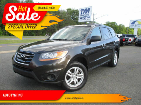 2011 Hyundai Santa Fe for sale at AUTOTYM INC in Fredericksburg VA