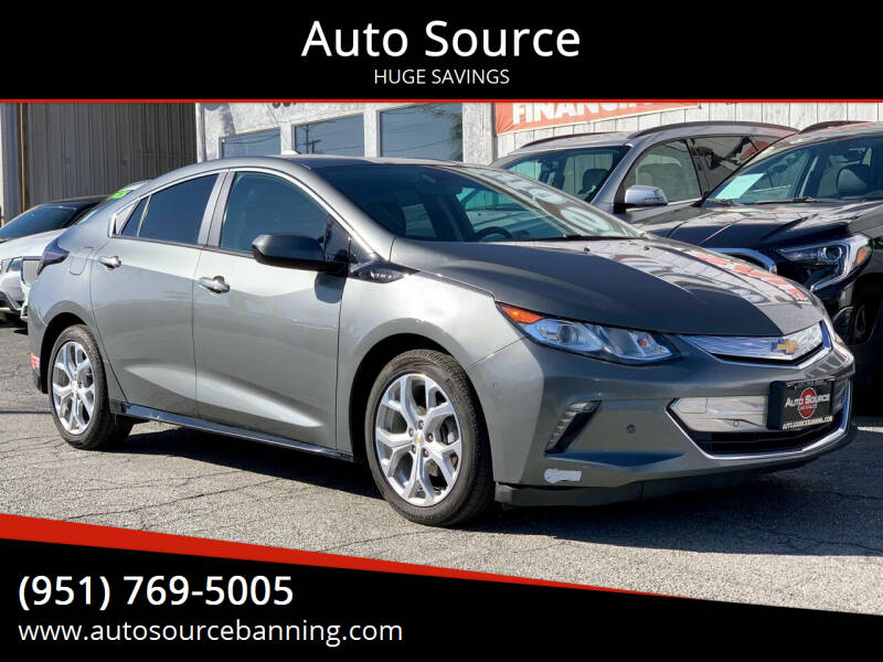 2017 Chevrolet Volt for sale at Auto Source in Banning CA