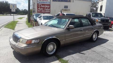 2001 Mercury Grand Marquis for sale at DAVINA AUTO SALES in Orlando FL