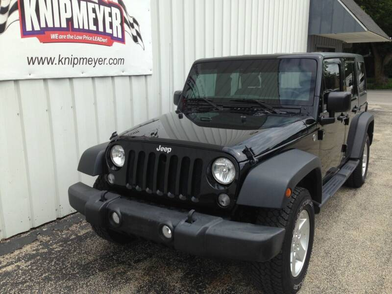 2015 Jeep Wrangler Unlimited for sale at Team Knipmeyer in Beardstown IL