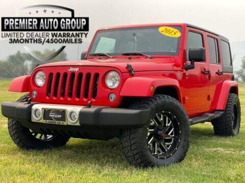 2015 Jeep Wrangler Unlimited for sale at Premier Auto Group in Union Gap WA