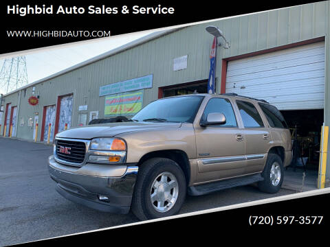 2006 GMC Yukon for sale at Highbid Auto Sales & Service in Arvada CO