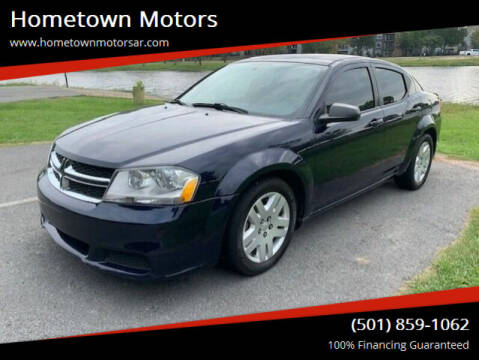 2013 Dodge Avenger for sale at Hometown Motors in Jacksonville AR