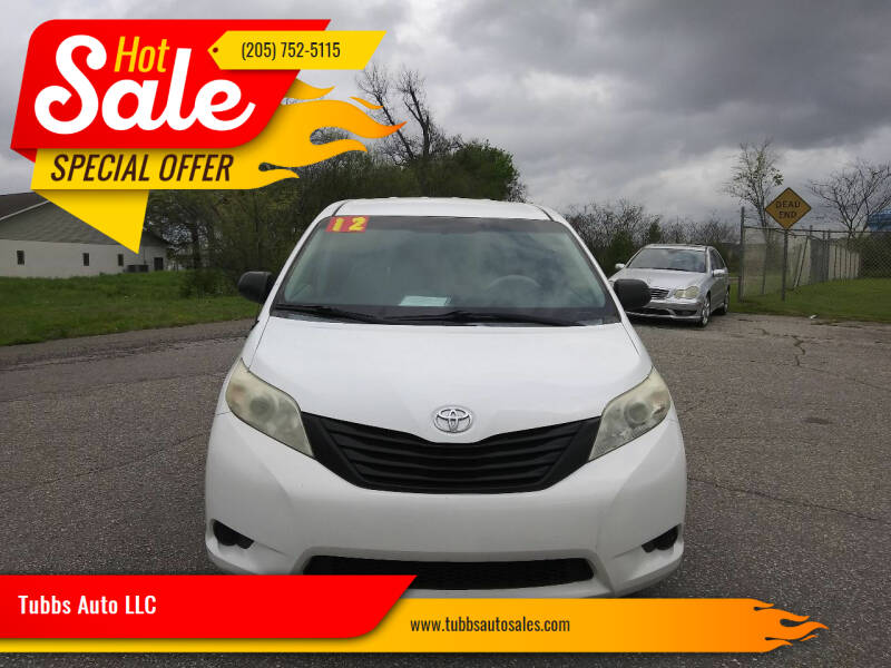 2012 Toyota Sienna for sale at Tubbs Auto LLC in Tuscaloosa AL
