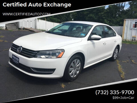 2012 Volkswagen Passat for sale at Certified Auto Exchange in Keyport NJ