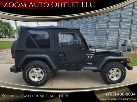 2002 Jeep Wrangler for sale at Zoom Auto Outlet LLC in Thorntown IN