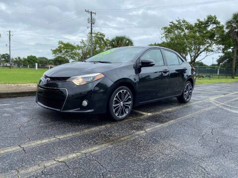 2015 Toyota Corolla for sale at Lamberti Auto Collection in Plantation FL