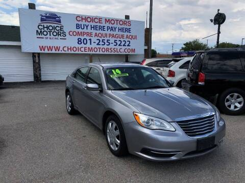 2014 Chrysler 200 for sale at Choice Motors of Salt Lake City in West Valley City UT