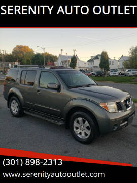 2005 Nissan Pathfinder for sale at SERENITY AUTO OUTLET in Frederick MD