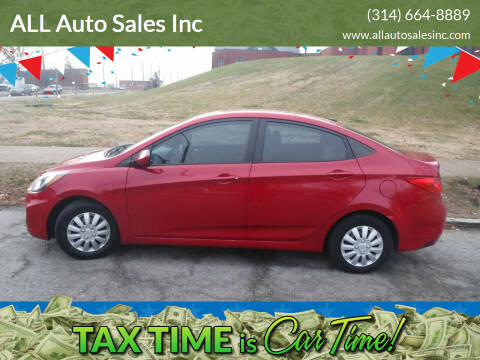 2014 Hyundai Accent for sale at ALL Auto Sales Inc in Saint Louis MO