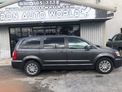 2015 Chrysler Town and Country for sale at Don Auto World in Houston TX