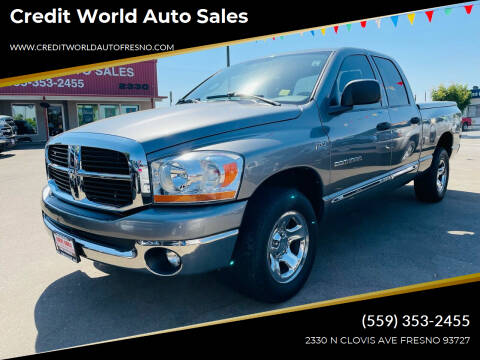 2006 Dodge Ram Pickup 1500 for sale at Credit World Auto Sales in Fresno CA