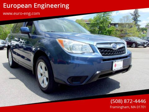 2014 Subaru Forester for sale at European Engineering in Framingham MA