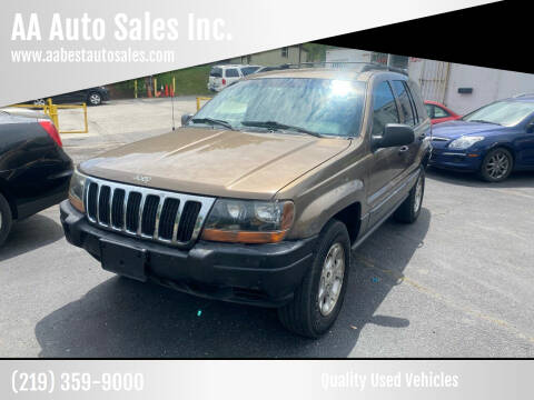 2001 Jeep Grand Cherokee for sale at AA Auto Sales Inc. in Gary IN