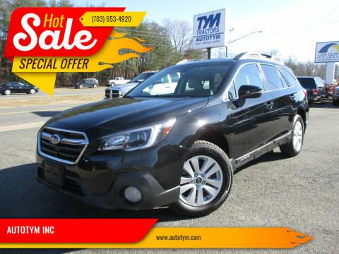 2018 Subaru Outback for sale at AUTOTYM INC in Fredericksburg VA
