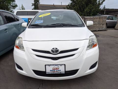 2007 Toyota Yaris for sale at M AND S CAR SALES LLC in Independence OR