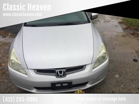 2003 Honda Accord for sale at Classic Heaven Used Cars & Service in Brimfield MA