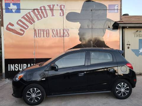 2015 Mitsubishi Mirage for sale at Cowboy's Auto Sales in San Antonio TX