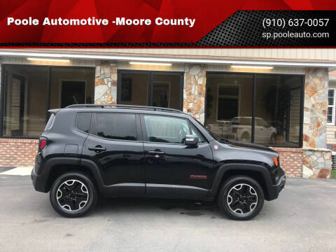 2016 Jeep Renegade for sale at Poole Automotive in Laurinburg NC