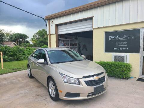 2014 Chevrolet Cruze for sale at O & J Auto Sales in Royal Palm Beach FL