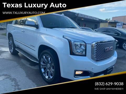 2016 GMC Yukon for sale at Texas Luxury Auto in Houston TX