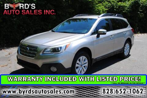 2015 Subaru Outback for sale at Byrds Auto Sales in Marion NC