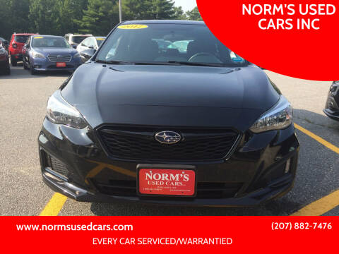 2017 Subaru Impreza for sale at NORM'S USED CARS INC in Wiscasset ME