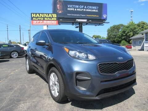 2018 Kia Sportage for sale at Hanna's Auto Sales in Indianapolis IN