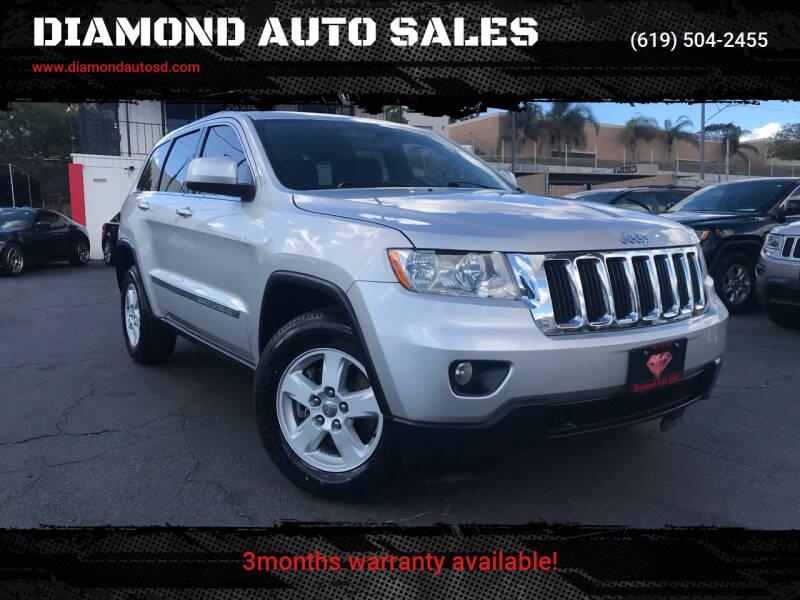 2012 Jeep Grand Cherokee for sale at DIAMOND AUTO SALES in El Cajon CA