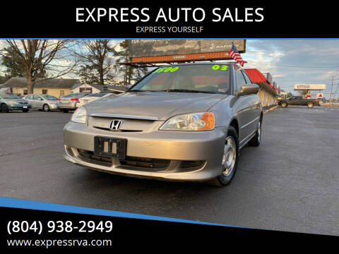 2003 Honda Civic for sale at EXPRESS AUTO SALES in Midlothian VA