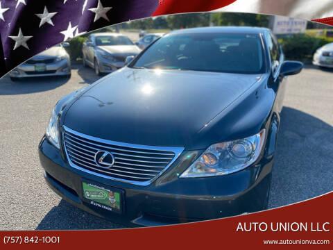 2007 Lexus LS 460 for sale at Auto Union LLC in Virginia Beach VA