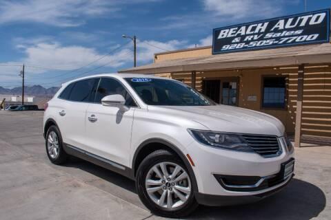 2016 Lincoln MKX for sale at Beach Auto and RV Sales in Lake Havasu City AZ