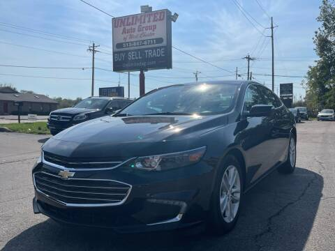2018 Chevrolet Malibu for sale at Unlimited Auto Group in West Chester OH