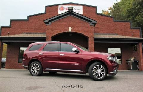 2016 Dodge Durango for sale at Atlanta Auto Brokers in Cartersville GA