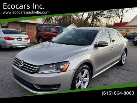 2013 Volkswagen Passat for sale at Ecocars Inc. in Nashville TN