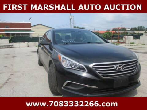 2016 Hyundai Sonata for sale at First Marshall Auto Auction in Harvey IL
