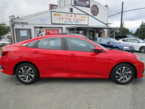 2016 Honda Civic for sale at G&R Auto Sales in Lynnwood WA