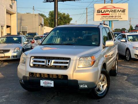 2006 Honda Pilot for sale at Supreme Auto Sales in Chesapeake VA