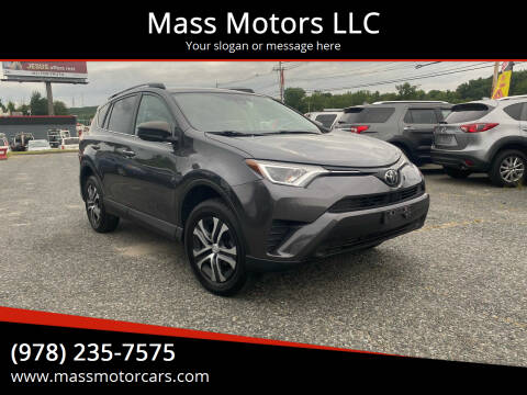 2017 Toyota RAV4 for sale at Mass Motors LLC in Worcester MA