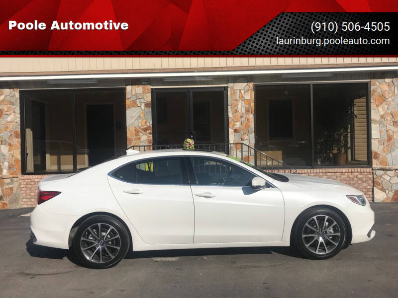 2019 Acura TLX for sale at Poole Automotive in Laurinburg NC
