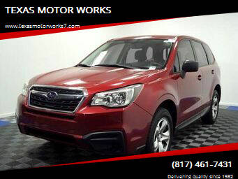 2017 Subaru Forester for sale at TEXAS MOTOR WORKS in Arlington TX