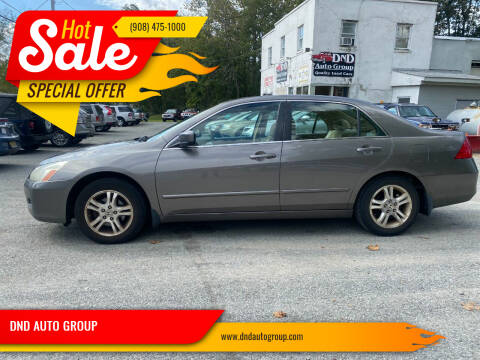 2007 Honda Accord for sale at DND AUTO GROUP in Belvidere NJ
