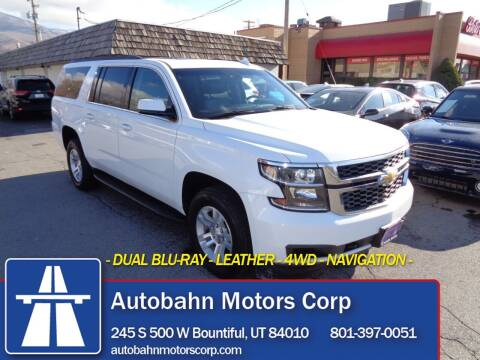 2019 Chevrolet Suburban for sale at Autobahn Motors Corp in Bountiful UT