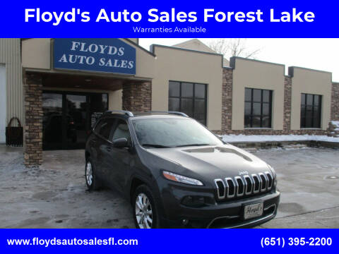 2015 Jeep Cherokee for sale at Floyd's Auto Sales Forest Lake in Forest Lake MN